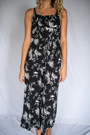 No Shade Floral Jumpsuit Black