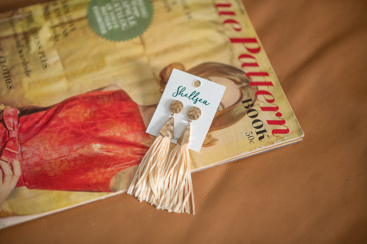Dimpled Cord Earrings