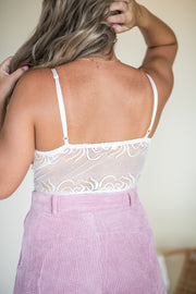 Freely Roaming Lace Bodysuit Cream
