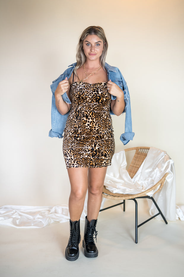 All The Wild Bodycon Dress Leopard