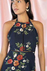What A Keeper Floral Maxi Dress Navy