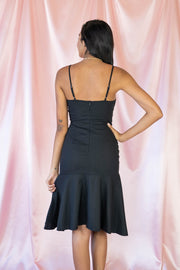 Bow Your Worth Sleeveless Dress Black