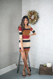Keep Watching Bodycon Dress Camel