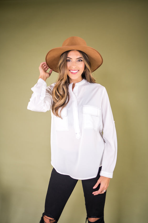 Every Stitch Way Top White
