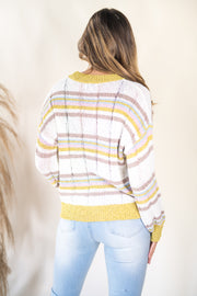 Comfort Required Striped Multi Sweater