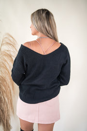 Put A Twist On It Sweater Black
