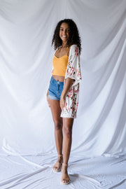 Walk The Tank Crop Top Mustard