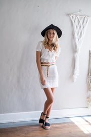 Cotton The Act Mini Skirt White