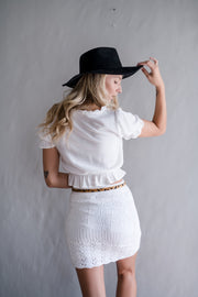 Glow With It Crop Top White
