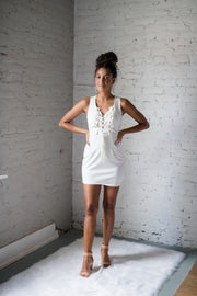Date Night Done Right Dress White
