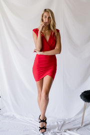 All By Yourself Bodycon Dress Red