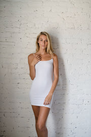 Set The Pace Bodycon Slip Ivory