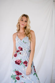 Peace Of Me Floral Maxi Dress Blue