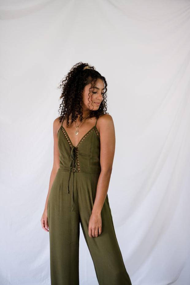 In The Loop Jumpsuit Olive
