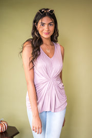 Seal With a Twist Tank Top Lavender