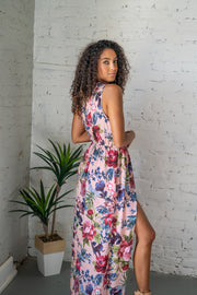 Floral All Over Maxi Romper Pink