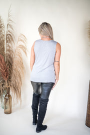Seal With a Twist Tank Top Grey