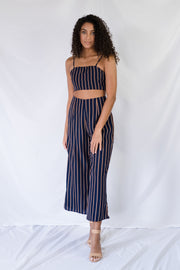 Cut To It Striped Cropped Pants