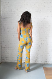 Especially Retro Floral Jumpsuit Mustard