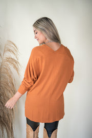 Into The Woods Top Burnt Orange