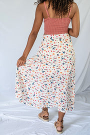 Fly Away Midi Skirt Cream