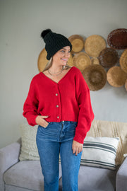 Fine and Sandy Sweater Red