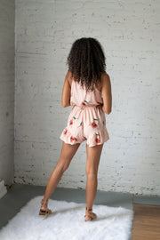 Needed Breeze Floral Romper Blush