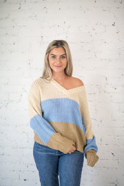 Fall in Line Colorblock Sweater