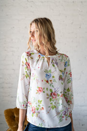 Love Of Summer Floral Top White