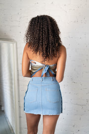 Next On Denim Skirt Light