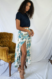 Easy To Adore Floral Midi Skirt