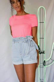 Out And Adorable High Waisted Shorts Light