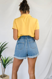 Fantastic Elastic Denim Shorts Light
