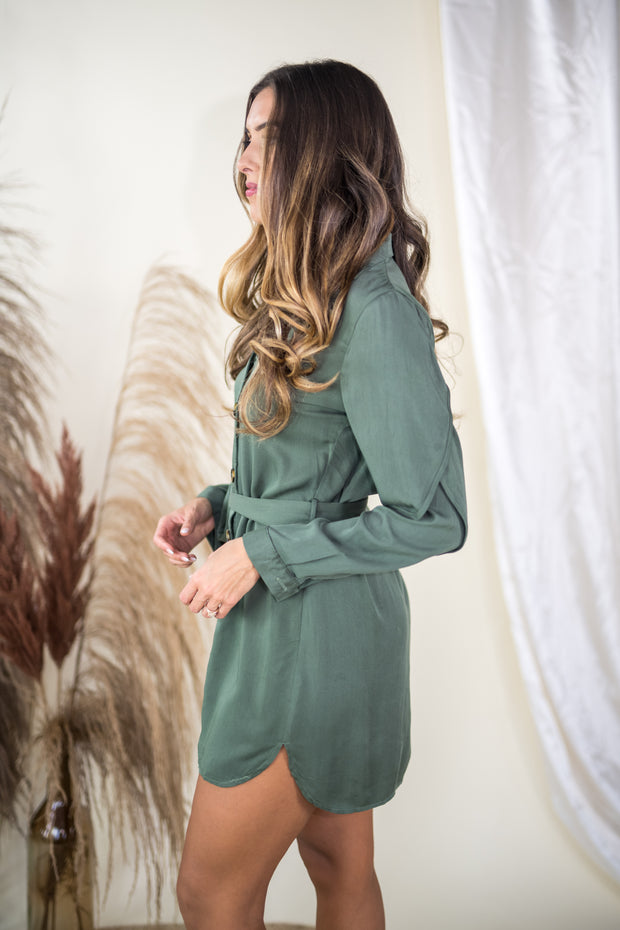 All Good Things Dress Olive