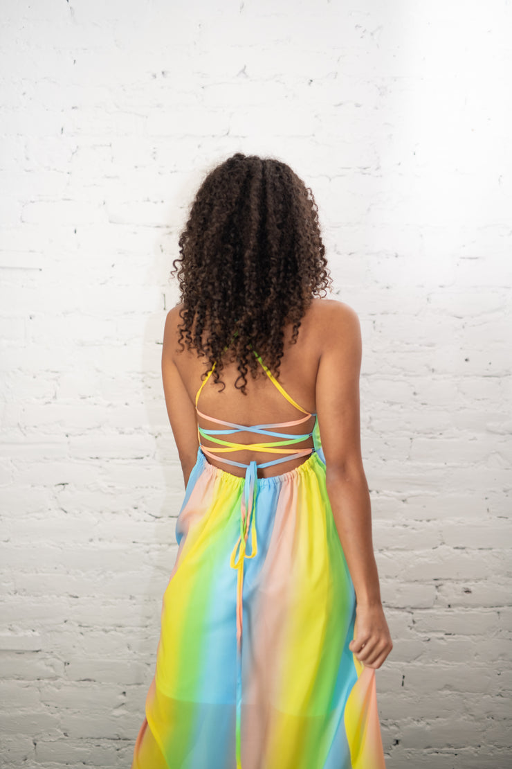 Over The Rainbow Striped Maxi Dress