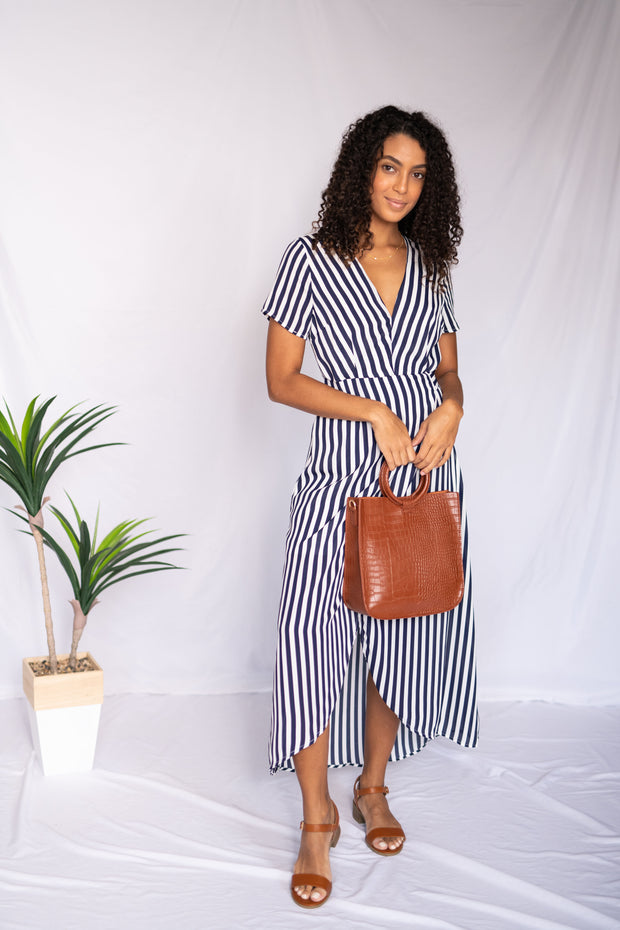Sunny With A Dance Striped Maxi Dress