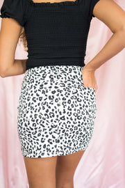 Here For A Wild Time Skirt White