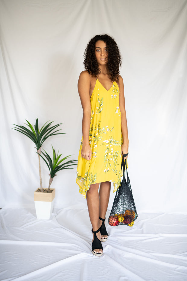 Fun For All Floral Dress Yellow