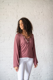 For The Thrill Of It Top Mauve