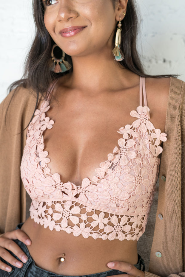 One of Those Daisies Bralette Rose