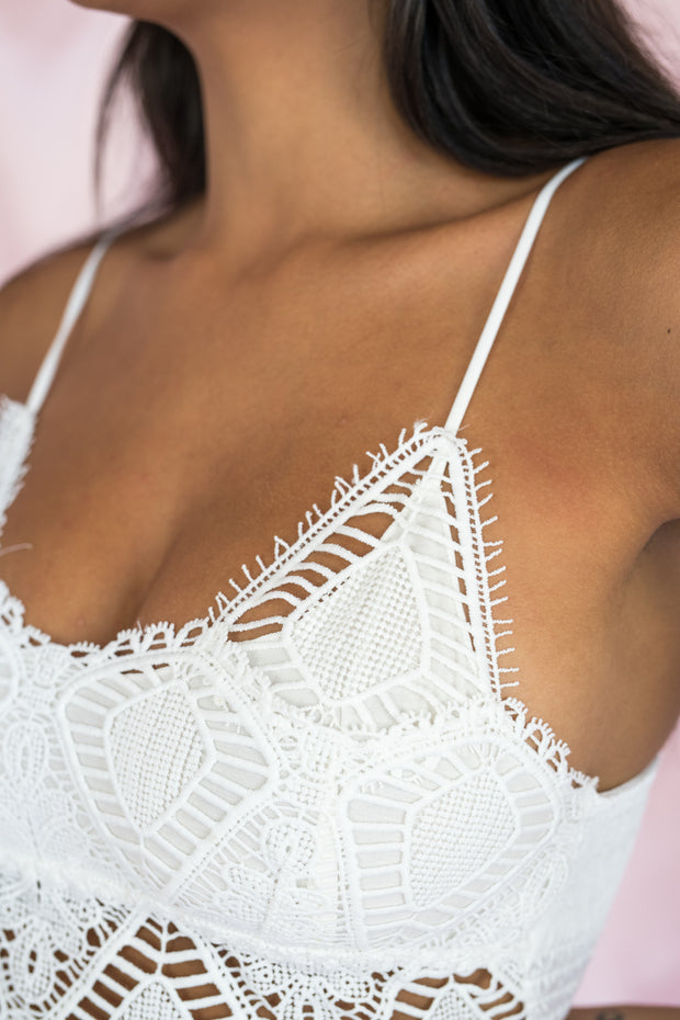 Daily Luxe Lace Bralette White