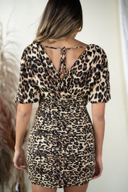 Wild Thoughts Smocked Dress Leopard