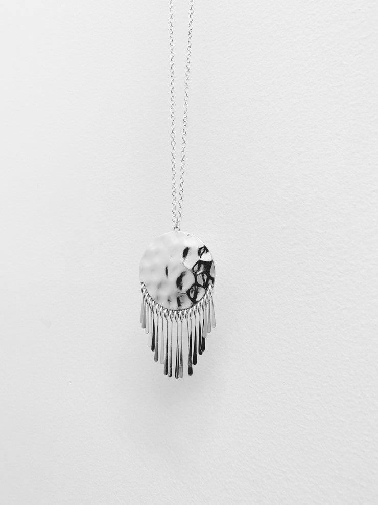 Fringe Disc Necklace