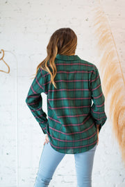 Evan Flannel Top Green
