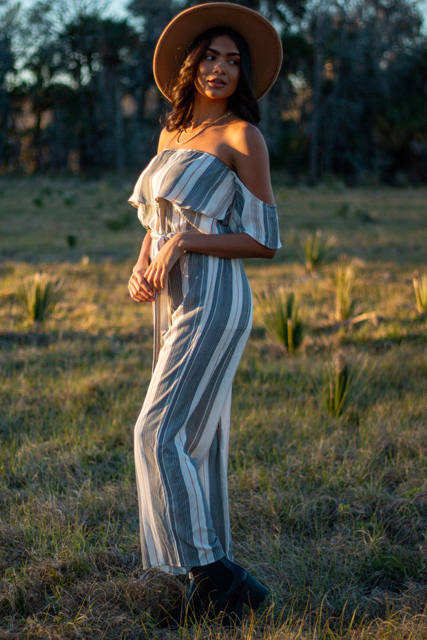 Subtle Statements Striped Jumpsuit