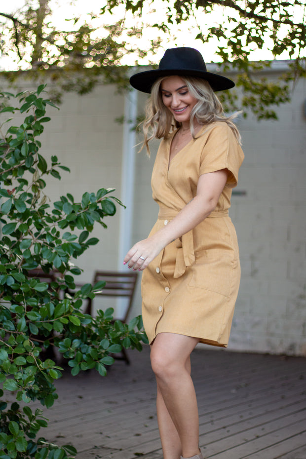Last Resort Dress Mustard
