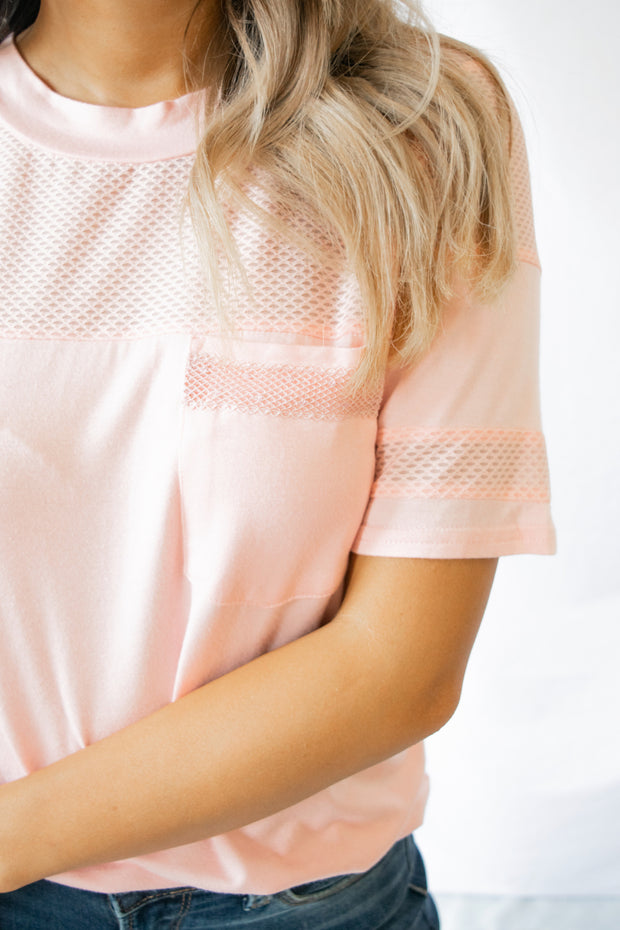 Mesh Is More Top Blush