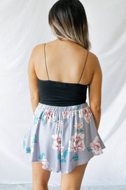 Fully Bloomed Floral Shorts Lavender