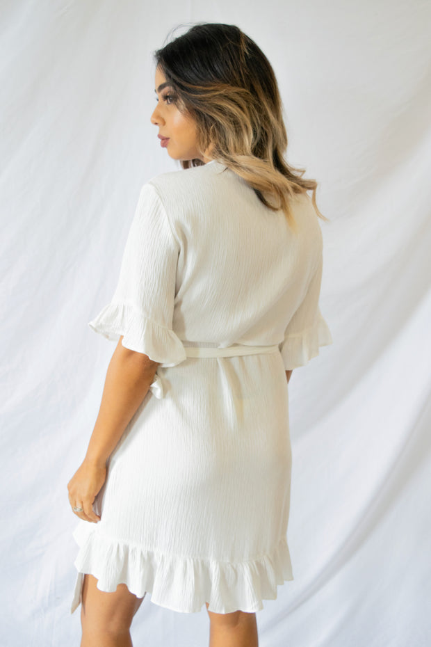 Valley Tales Wrap Dress Ivory