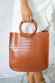 Alligator Skin Bag Set